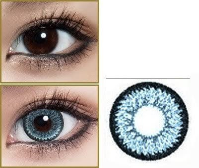 GEO Super Nudy quarter Blue Circle Lenses Colored Contacts Cosmetic Color Circle Lens | EyeCandy's