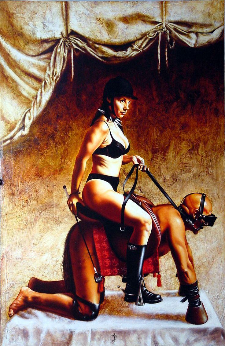 Femdom oil paintings
