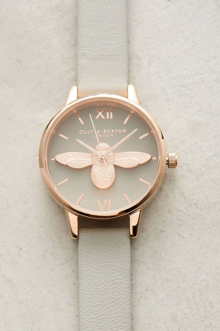 Grey Bee Watch | Anthropologie.For more beautiful pins check out the pinterest page: The Land Of Joy