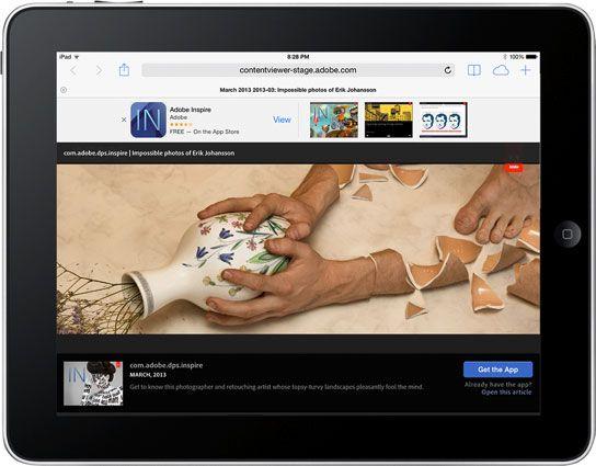Smart banners iPad