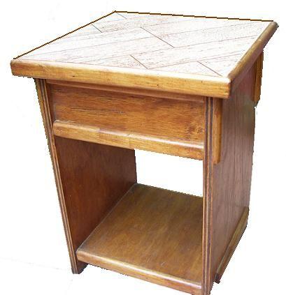 Claf linda mesa lateral con caja cod 577 mesa for Mesas diseno imitacion