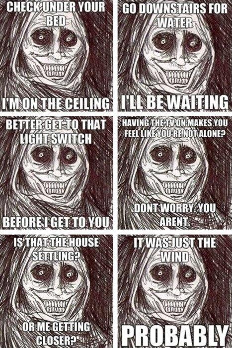 Le Scary meme illustre un peu trop parfaitement ce que je ressens quand je suis seule...