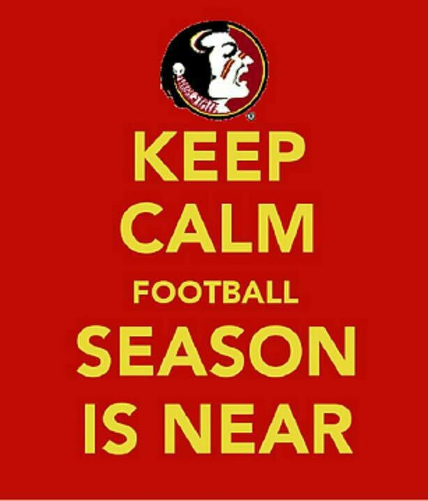 When Stressed Keep Calm And Watch FSU Football <3