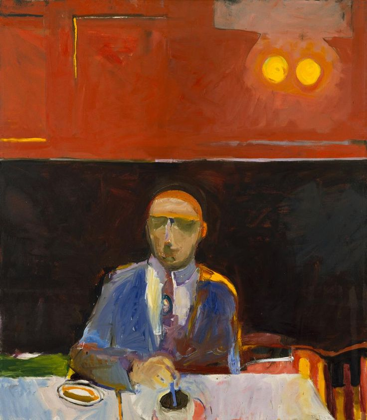 "urgetocreate: "" Richard Diebenkorn, Coffee, 1956, 67 x 58 ¾ in. """