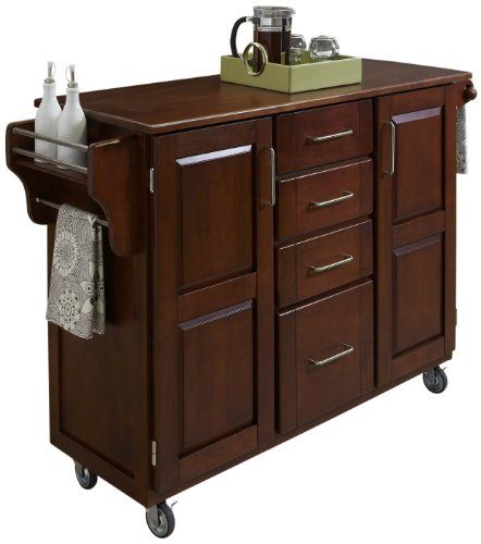 Home Styles Create-a-Cart, Cherry Finish with Oak Top