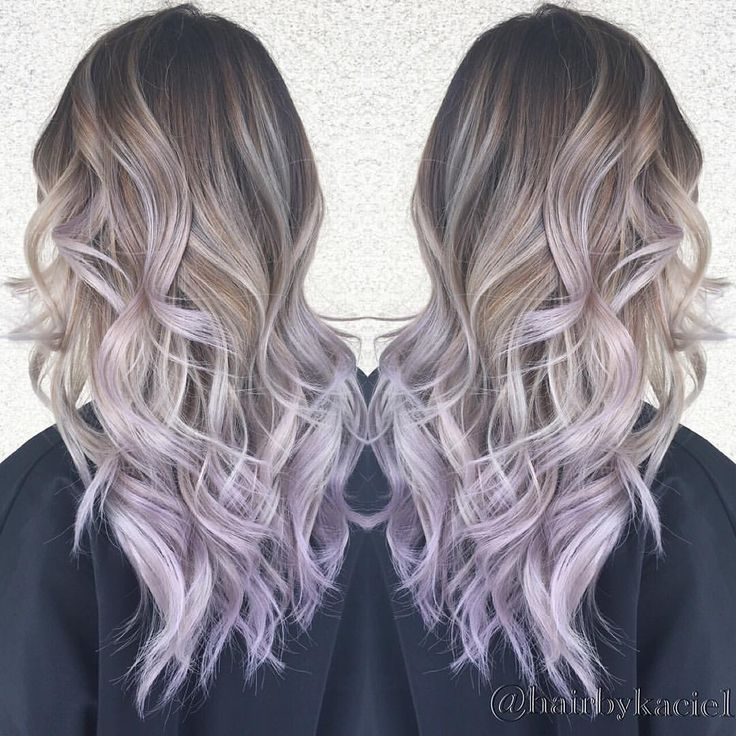 Ombré with lilac ends!