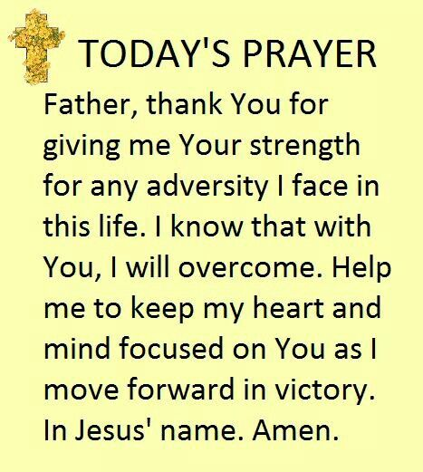 Today's Prayer!