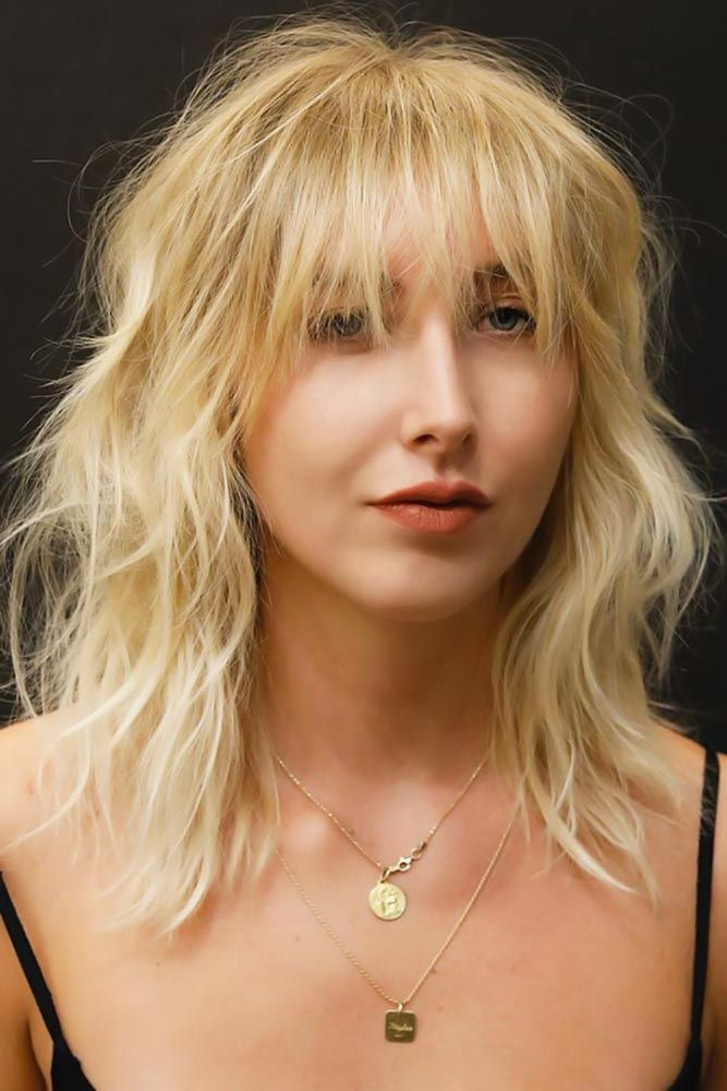 Messy Thin Hair #bangs #wispybangs  Want to go for stylish wispy bangs? Our short soft fringes for long hair shoulder length bob with layers and thin ...