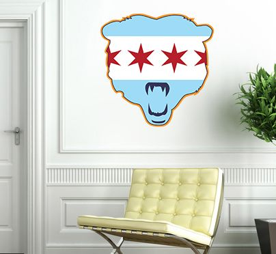Captivating Chicago Flag Bears Wall Decal! #Decor #Chicago #Bears Www.chicagowalls. Part 10