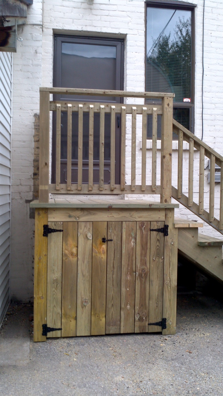 Finished exterior entrances of the brother 39 s of good Deck storage ideas