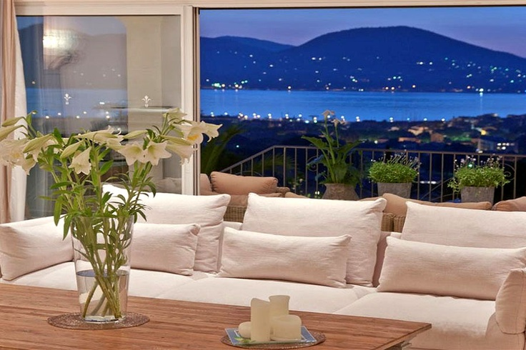 Fantastic Couch with Sea View in the Background! - Villa la Blanche, St Tropez