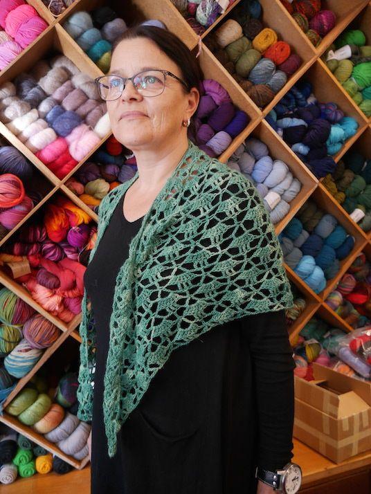 #schultertuch | #häkeln | #crochet by Gabi Endfellner