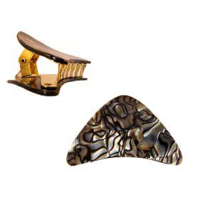 Onyx Gold hair clip - 5 cm