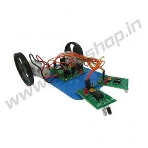 Line Follower without Microcontroller (DIY) Product Code: RS-3010 Availability: In Stock Price: Rs. 1,700.00   http://www.roboshop.in/robotic-kits-with-tutorials/line-follower-without-microcontroller-diy