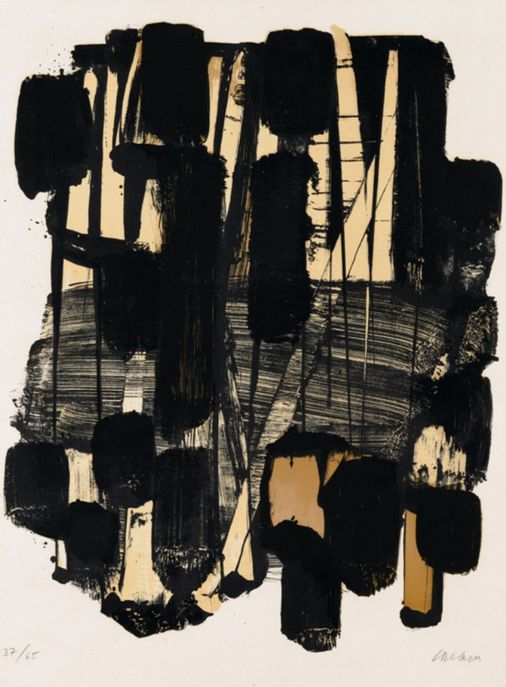 112 Best Soulages Images On Pinterest Abstract Art