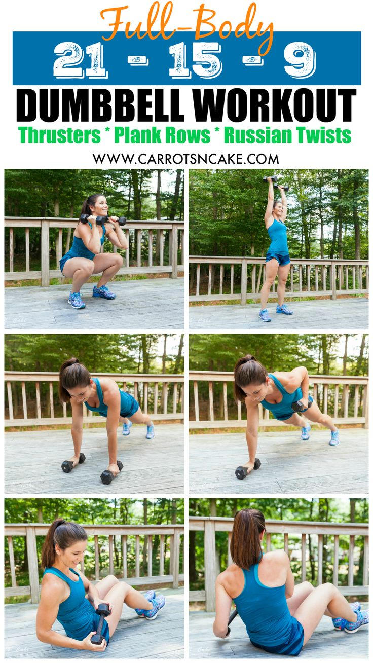 Full-Body 21-15-9 Dumbbell Workout http://carrotsncake.com/2016/12/full-body-21-15-9-dumbbell-workout.html