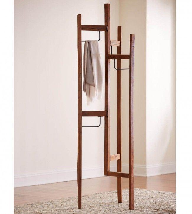 Teak Tri-fold Clothes Rack | VivaTerra
