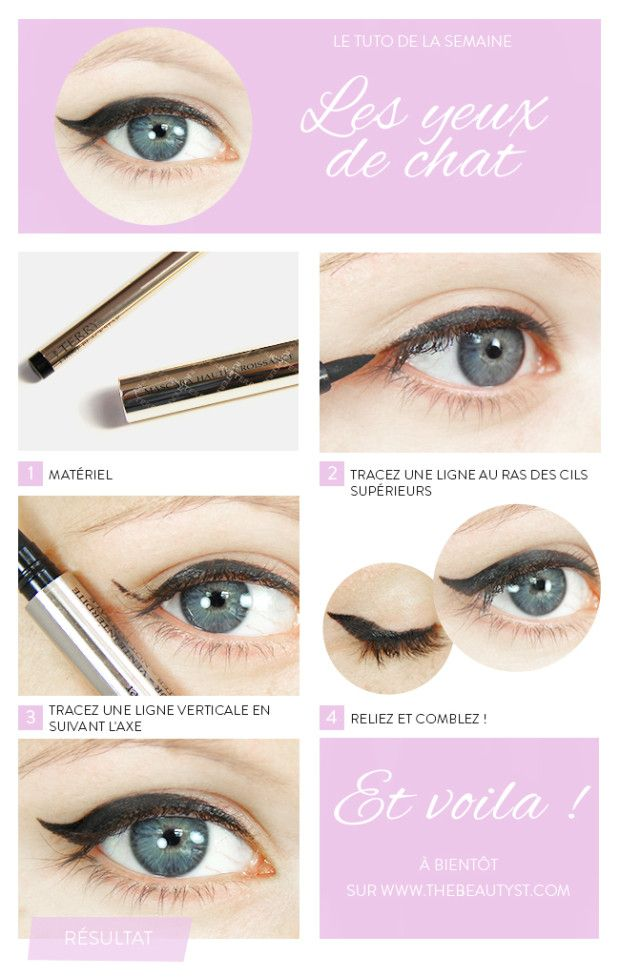 Maquillage des yeux - L'eyeliner oeil de chat en tuto photo