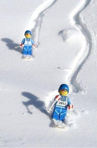 Lego skiers ... brings a smile to my face