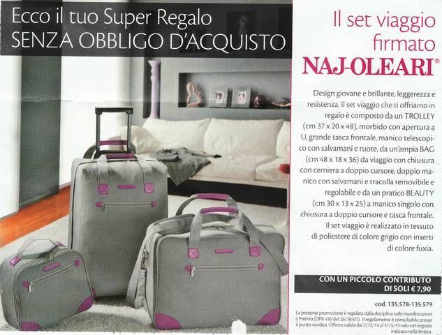 Set di Valigie Naj-Oleari #najoleari #bottegaverde #campioniomaggio