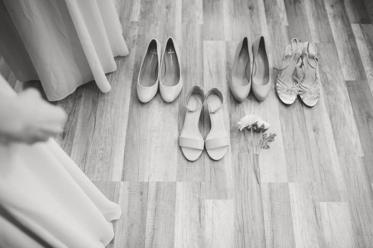 Wedding Morning / Wedding Shoes / Strappy Heels / Bridesmaid Shoes / Black and White Photos / John and Saara's Wedding. Photography by Maria Hedengren.