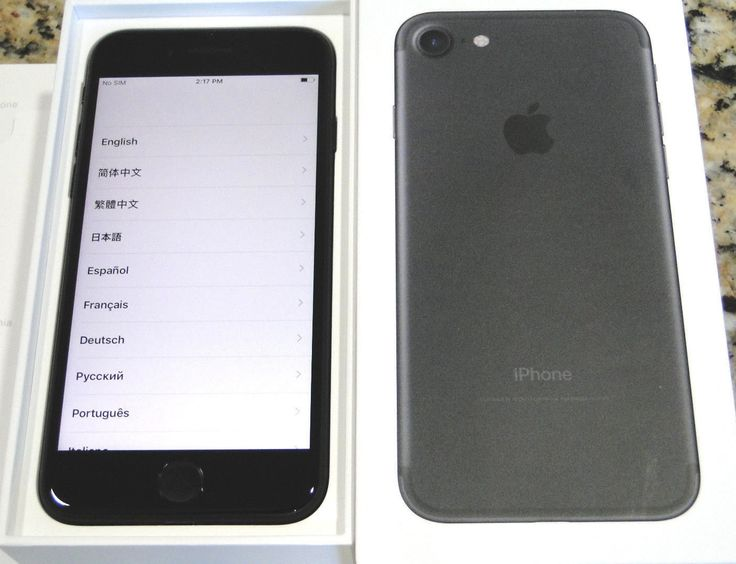 Brand New Apple iPhone 32GB Black World Unlocked WARRANTY 10/2017 APPLECARE OPT