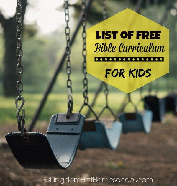 List of FREE Bible Curriculum for Kids for #homeschool, #SundaySchool or just Family Devotion time.