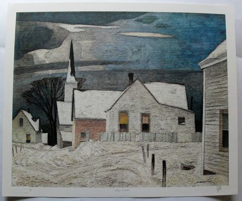 $399,99  Group OF Seven Signed Limited Edition Village IN Winter BY A J Casson | eBay
