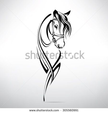 Silhouette of the head of a horse                                                                                                                                                      Mais
