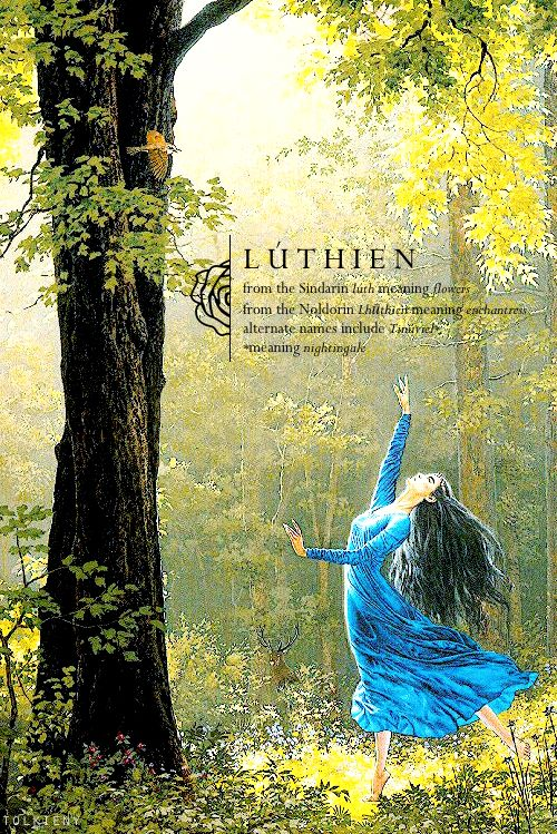 I remember seeing this image of Lúthien long ago in our collage-making days hehe