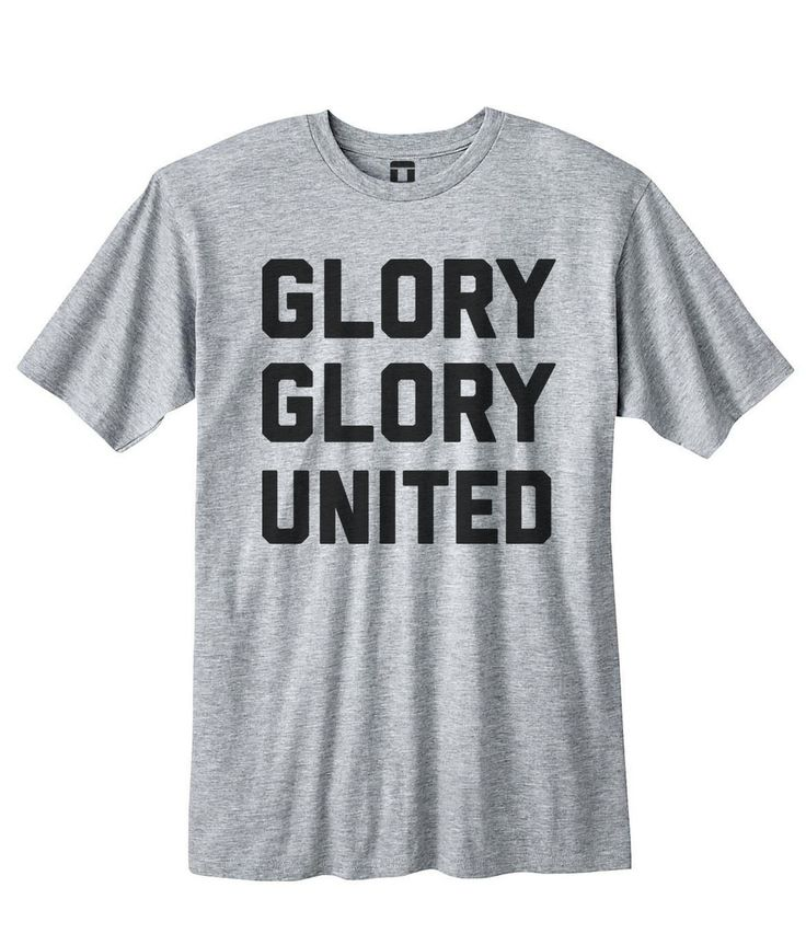 Glory Glory Manchester United | Men's Heather Grey T-Shirt via OniTees. Click on the image to see more!