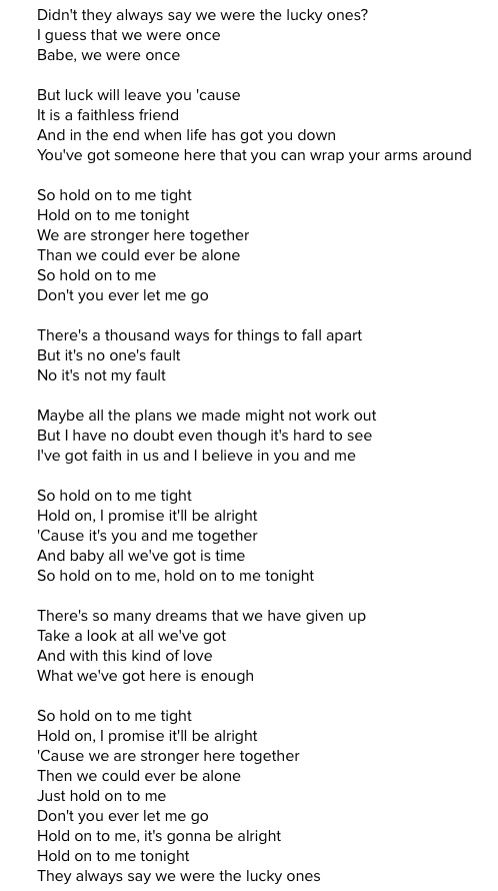 Hold On - Michael Bublé