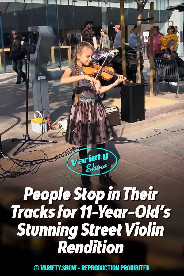 People Stop In Their Tracks For 11 Year Old S Stunning Street Violin Rendition In 2020 Street Performance Violin Olds