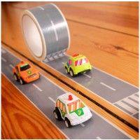 Cinta adhesiva carretera, con coche