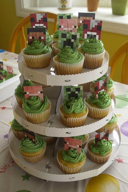 Minecraft Cupcakes | Things I have Made | Pinterest | Blog ...