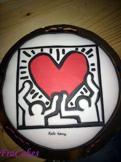 12/10/2012 Torta compleanno Elisabetta  Nessuna torta è più azzeccata di questa per un'appassionata di Keith Haring.. Non trovate??  Torta moretta, bagna alla tequila farcita con dulce de leche.