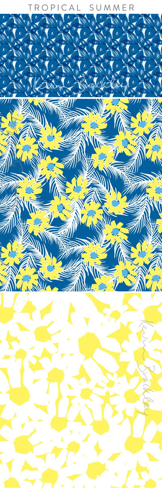 Tropical Summer collection - bright florals for those balmy days!