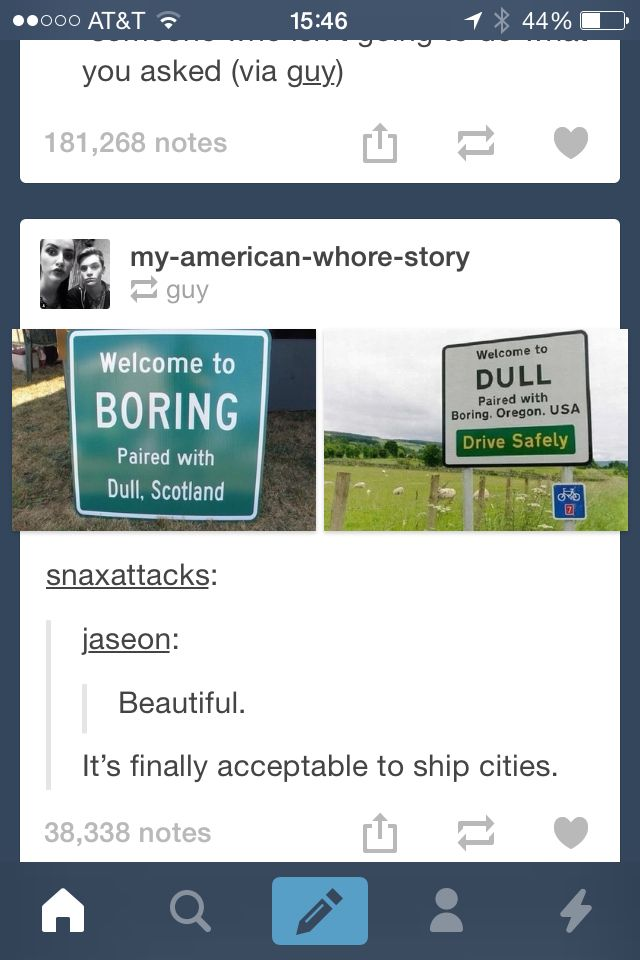 It's funny driving through this town, cause it makes you wonder who would name a town that.