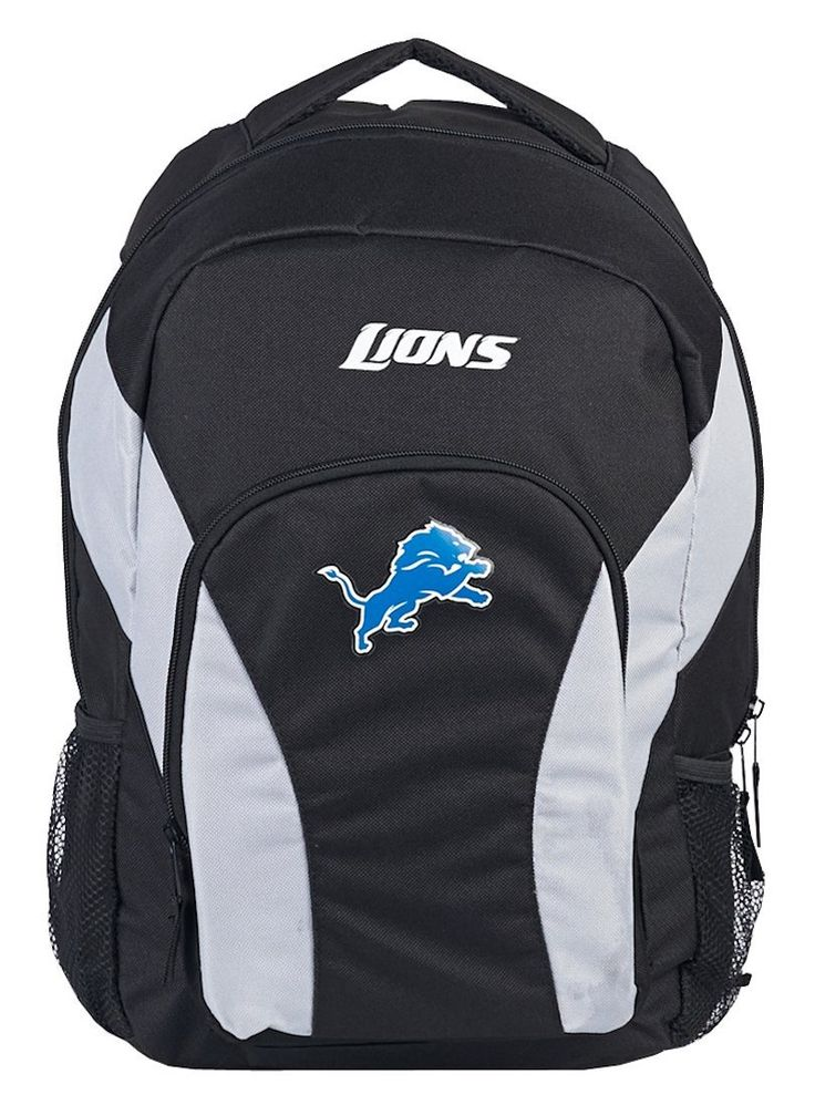 Detroit Lions Draft Day Black Back Pack
