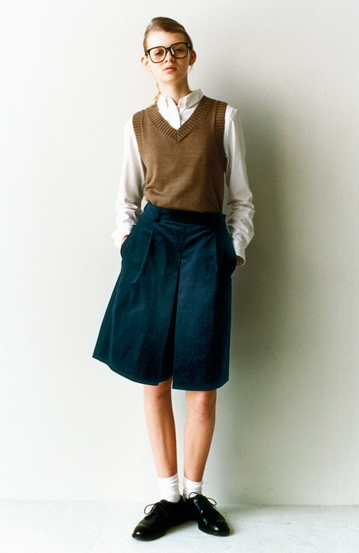 school girl style..love everything but the pants.