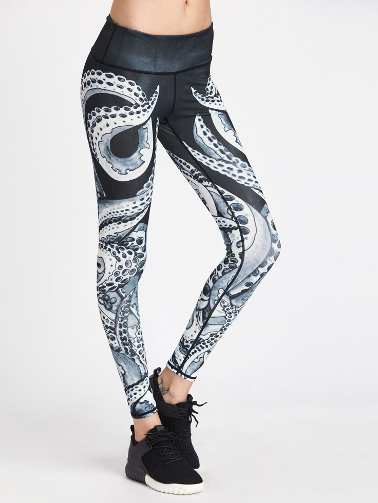 Shop Active Octopus Print Gym Leggings online. SheIn offers Active Octopus Print Gym Leggings & more to fit your fashionable needs.