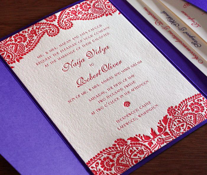 would love if the designs were blind-pressed (ie no ink), and the font was a bit simpler. naija letterpress wedding invitation by invitations by ajalon