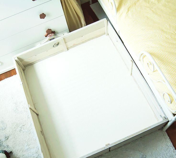 De cómo almacenar en la habitación infantil