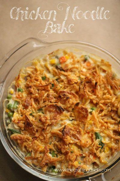 Super easy Chicken Noodle Bake