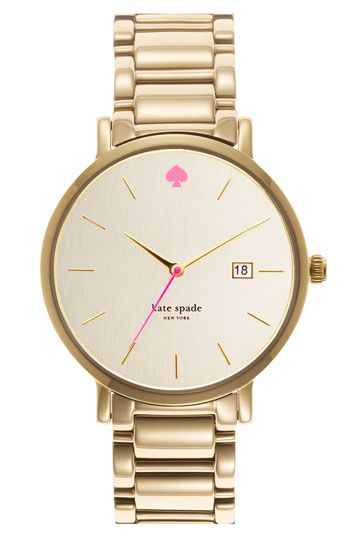 kate spade new york 'gramercy grand' bracelet watch