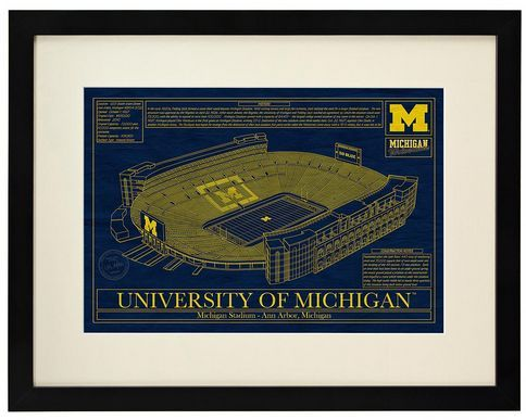 College Football Stadium Blueprint | Gifts For Football Coach, Coaches
