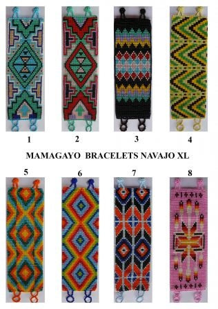 native design bracelets, loom beadwork patterns