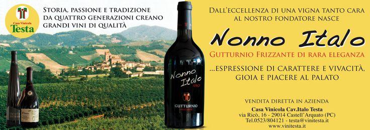 Nonno Italo - #Gutturnio doc frizzante Un #grande #vino rosso per le tue #cene e per i tuoi #regali.