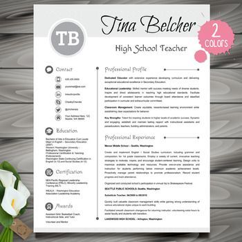 Resume Template + Cover Letter and Reference - EDITABLE (Pink + Light Gray)
