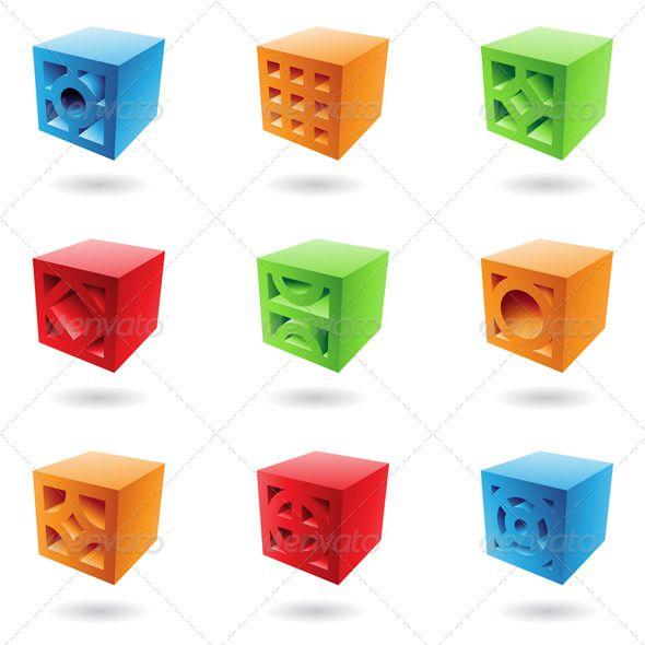 Abstract Brick Cubes
